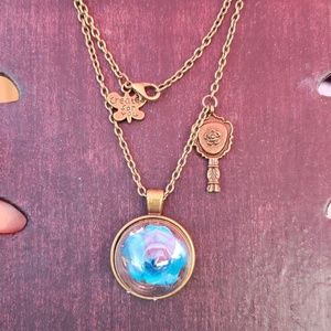 Beauty and the beast  blue necklace